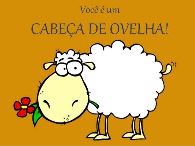 Exatamente, sua mente funciona como a de uma ovelha... As ovelhas quando olham um campo grande e não vêm o fim dele, não q...