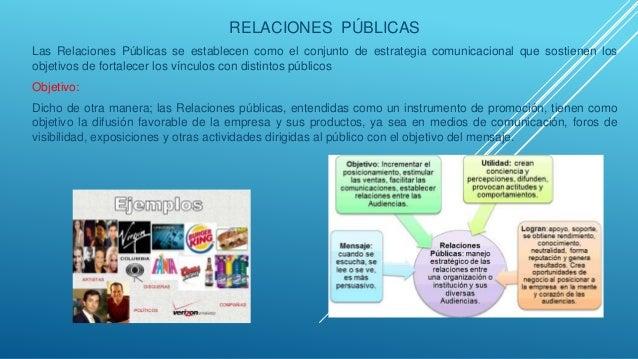 RELACIONES PÚBLICAS Las Relaciones Públicas se establecen como el conjunto de estrategia comunicacional que sostienen los ...