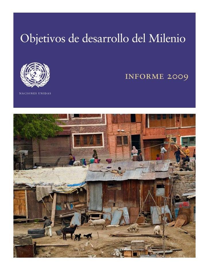 Objetivos de desarrollo del Milenio                      informe 2009k^`flkbp=rkfa^p=
