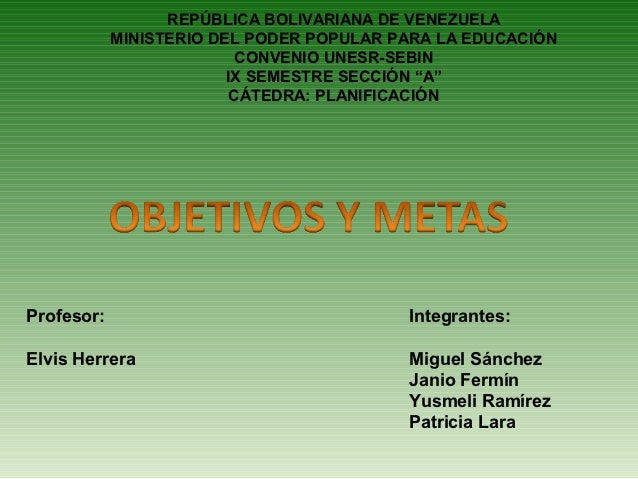 REPÚBLICA BOLIVARIANA DE VENEZUELA            MINISTERIO DEL PODER POPULAR PARA LA EDUCACIÓN                           CON...