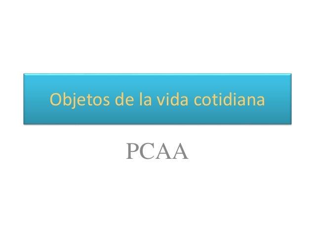 Objetos de la vida cotidiana PCAA