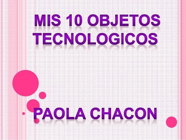 Objetos tecnologicos