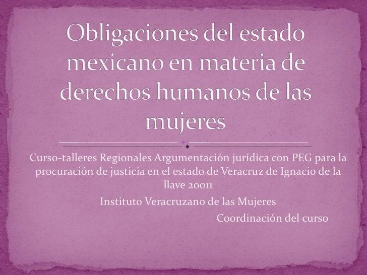 Curso-talleres Regionales Argumentación jurídica con PEG para la procuración de justicia en el estado de Veracruz de Ignac...