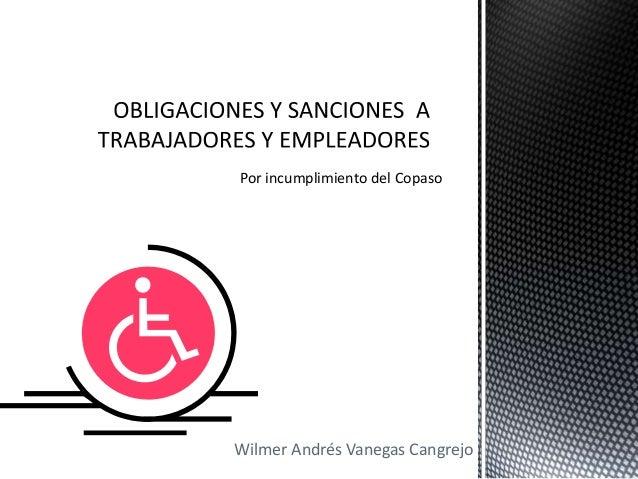Wilmer Andrés Vanegas Cangrejo Por incumplimiento del Copaso