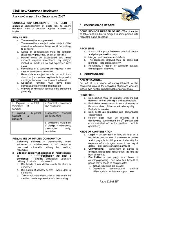 obligations and contracts philippine reviewer Pinoy legal all about philippine law contracts and rescission posted by admin | posted in obligations and contracts what is a contract.