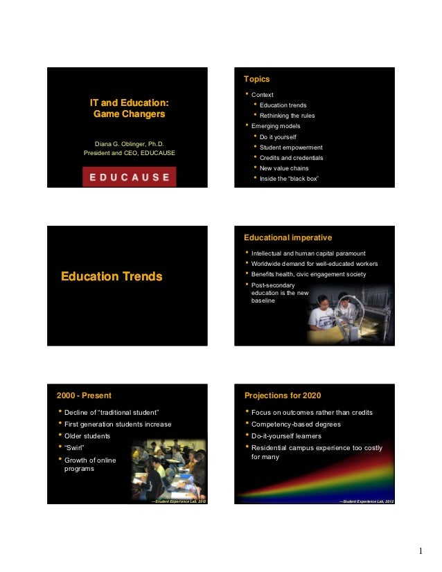 Topics                                                             • Context          IT and Education:                   ...