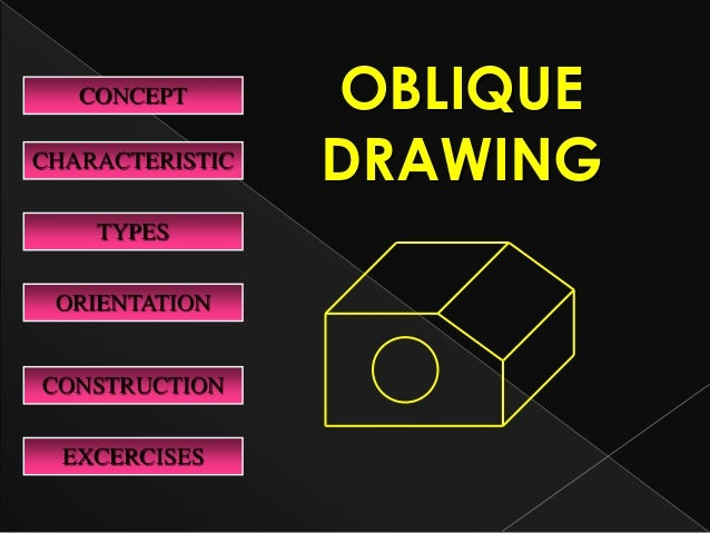 CHARACTERISTIC TYPES EXCERCISES CONSTRUCTION CONCEPT OBLIQUE DRAWING ORIENTATION