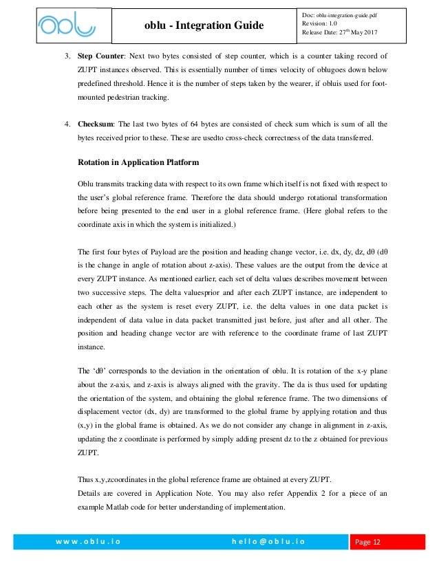 Oblu Integration Guide