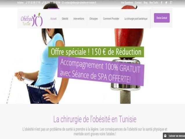 Cherchez-vous un résultat durable à votre obésité ? Obélyse-Tunisie prend en charge votre séjour bariatrique en Tunisie et...