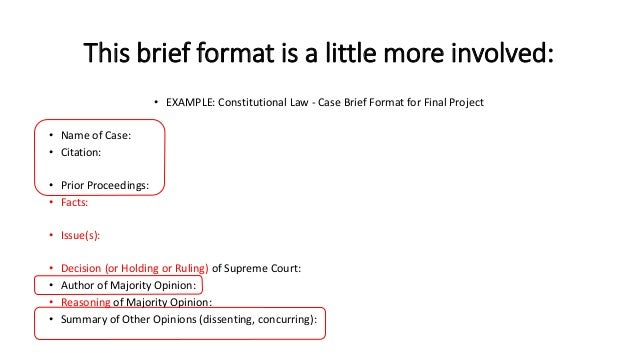 How to Brief a Legal Case