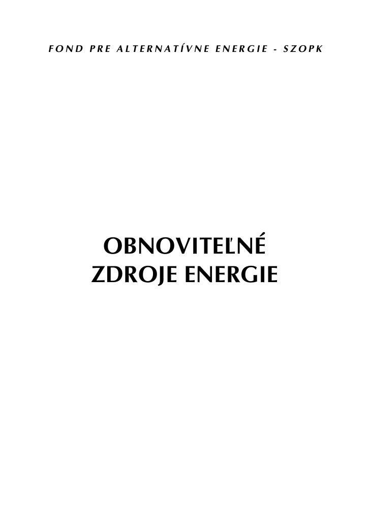 Obnovitelne Zdroje Energie Emil Bedi