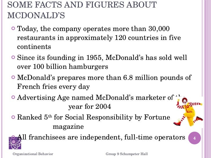 management and organisational behaviour mcdonalds What is the difference between organizational culture and organizational identity  a person or organization, culture is a common behaviour of a group  pattern of the management good .