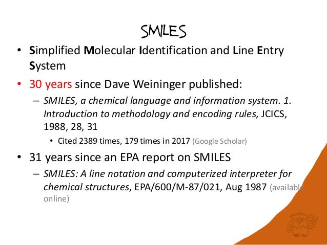A de facto standard or a free-for-all? A benchmark for reading SMILES Slide 3