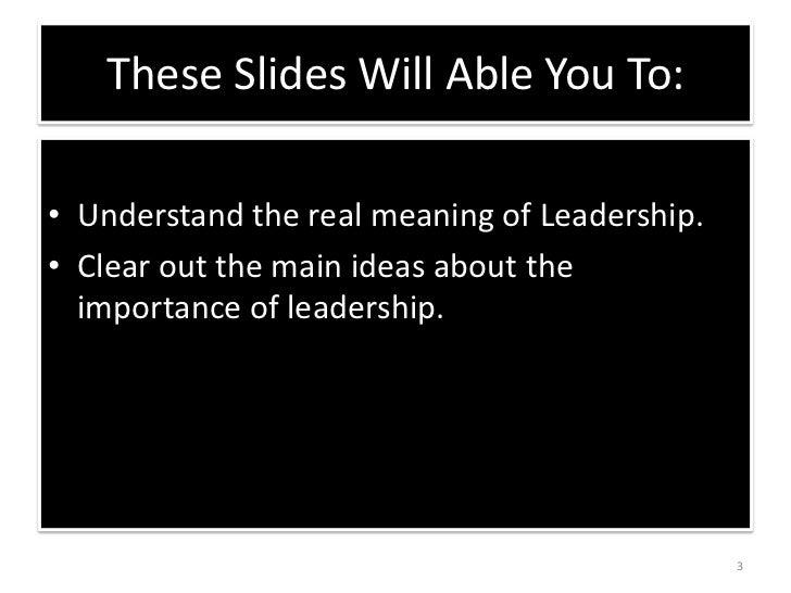 Ob assignment leadership is inborn