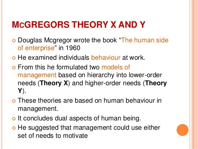 essay on theory x and y Free essay: haroun nor b mangorsi ba 201n: organizational theory professor elmer p nacua july 20, 2013 learning insights on theory x / y.