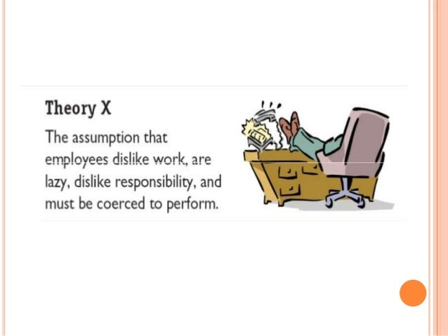 theory x and theory y Mcgregor developed two theories of human behaviour at work: theory and x  and theory y.