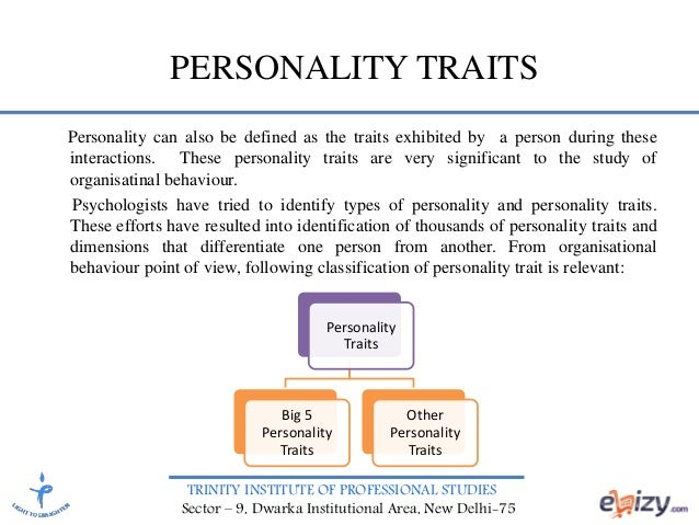 an overview of the trait model of personality