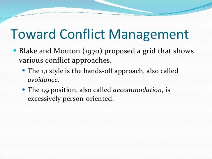 managing and resolving conflict essay