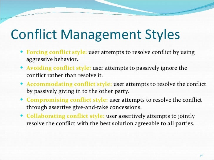 the collaborating style of conflict resolution is based on a