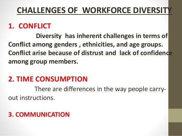 hrm challenges on diverse workforce 13 today's hrm challenges  hr must be aware of this and continually plan for the challenge of a changing workforce diversity in the workplace is an important .