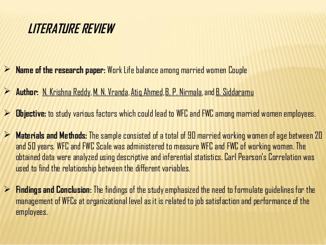 literature review of work and family conflict A review of literature khushboo mitta1, sethi2 and dr upasna joshi3 1research scholar, punjabi university, patiala, punjab  a failure to address work–family conflicts has negative impacts not only on the employment opportunities and job quality, health and productivity of the.