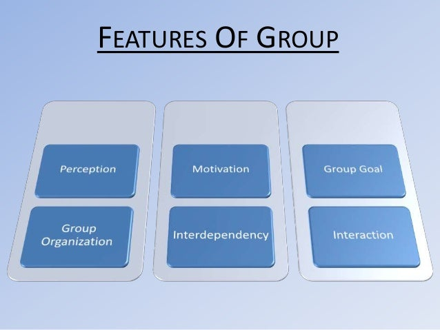 FEATURES OF GROUP