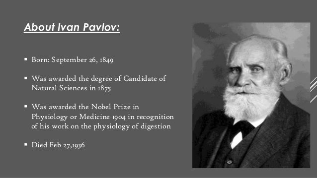 classical conditioning by ivan pavlov Breaking bad habits: classical conditioning and the russian physiologist ivan pavlov made a discovery that still one of the many dogs that pavlov used in.