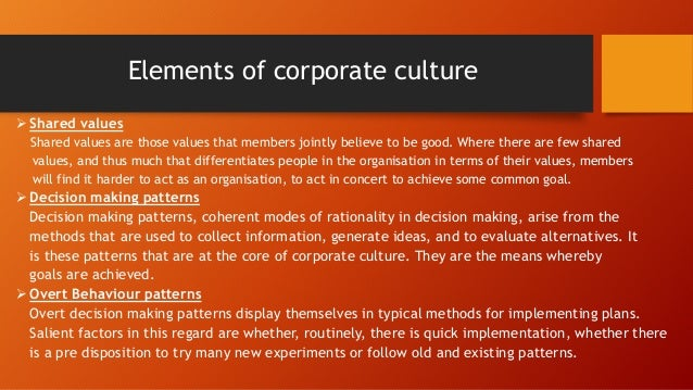 ORGANISATIONAL DYNAMICS AND ORGANISATIONAL CULTURE – MCDONALDS