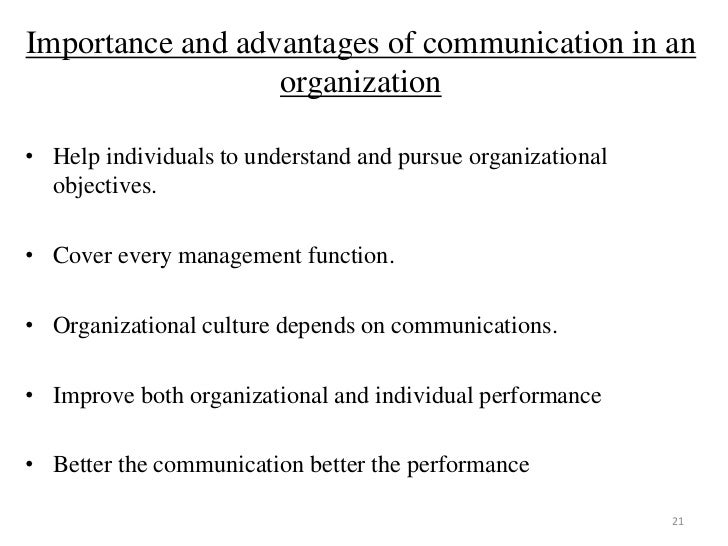 importance of managerial communication Communications management often you would come across organizations that stress the importance of good communication management.