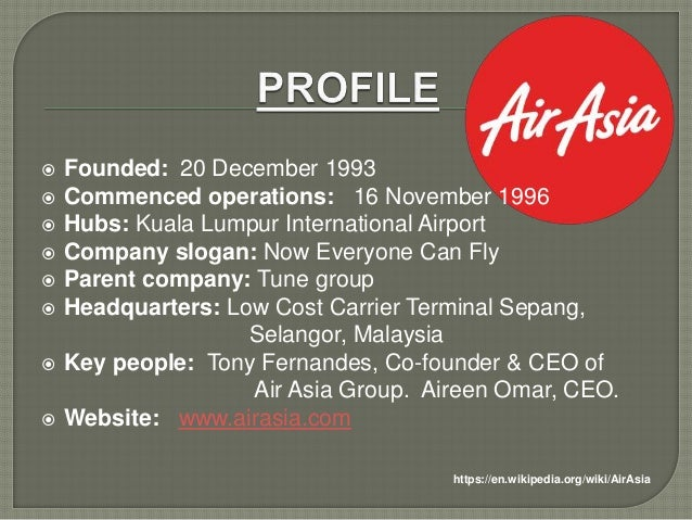 air asia company essay Air asia: penetrating into the south african airline industry - weng marc lim - research paper (undergraduate) - business economics - marketing, corporate communication, crm, market research, social media - publish your bachelor's or master's thesis, dissertation, term paper or essay.