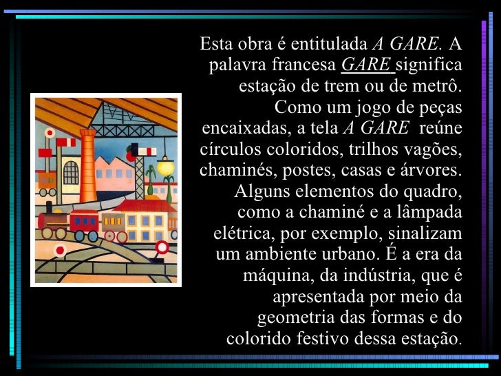 Esta obra é entitulada  A GARE.  A palavra francesa  GARE   significa estação de trem ou de metrô. Como um jogo de peças e...