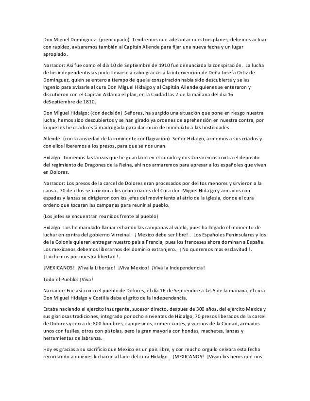 Don Miguel Domínguez: (preocupado) Tendremos que adelantar nuestros planes, debemos actuar con rapidez, avisaremos también...