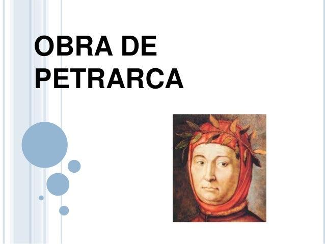 OBRA DE PETRARCA