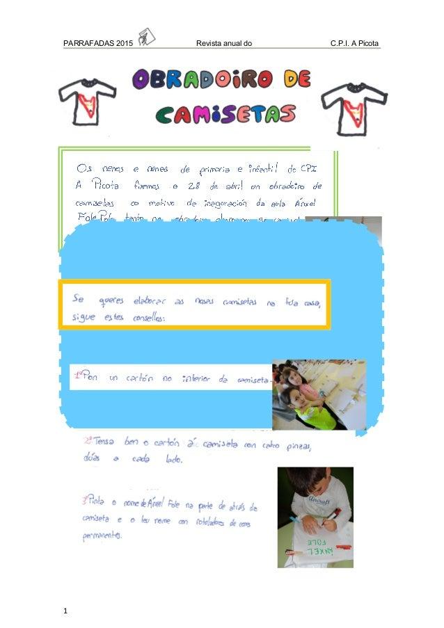 PARRAFADAS 2015 Revista anual do C.P.I. A Picota 1