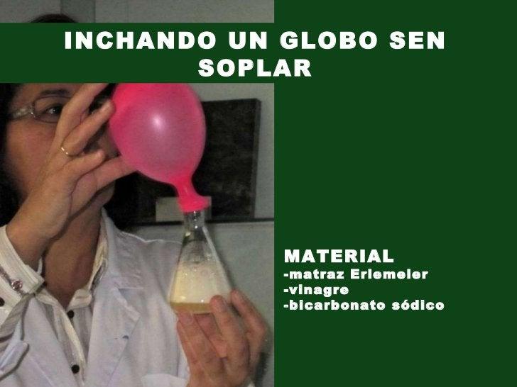 INCHANDO UN GLOBO SEN SOPLAR MATERIAL -matraz Erlemeier -vinagre -bicarbonato sódico