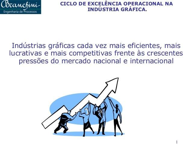 CICLO DE EXCELÊNCIA OPERACIONAL NA INDÚSTRIA GRÁFICA.  Indústrias gráficas cada vez mais eficientes, mais lucrativas e mai...