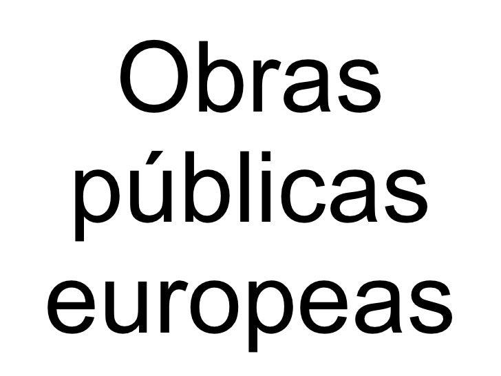 Obras públicas europeas
