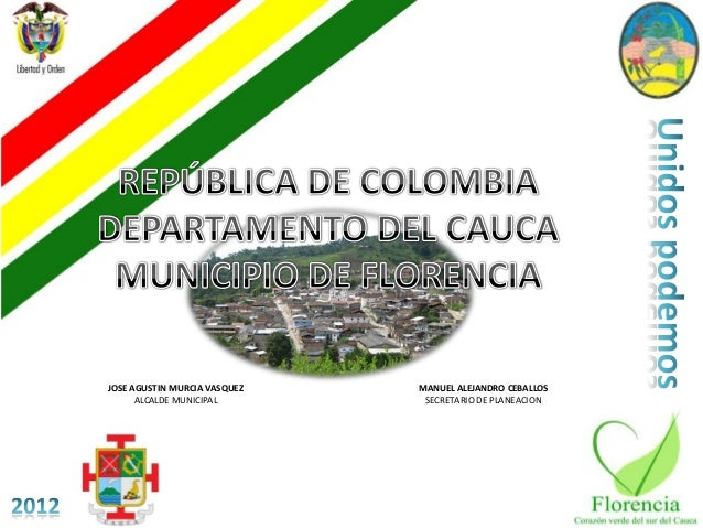 JOSE AGUSTIN MURCIA VASQUEZ   MANUEL ALEJANDRO CEBALLOS      ALCALDE MUNICIPAL        SECRETARIO DE PLANEACION