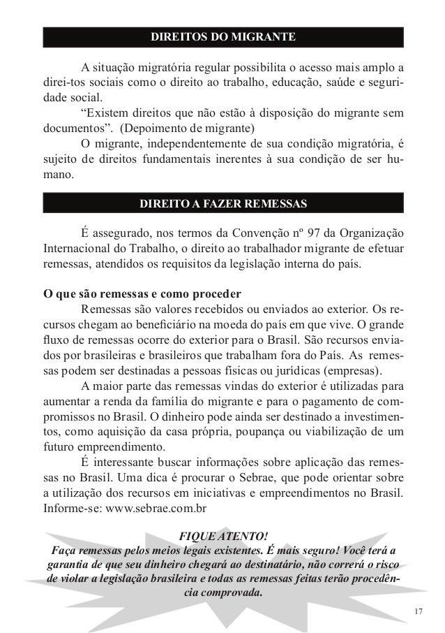 O brasil al m das fronteiras Remessa de dinheiro para o exterior