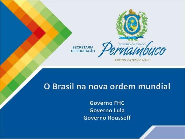 ⌛ Fernando Henrique Cardoso (PSDB) deu continuidade à política de estabilização econômica iniciada com o Plano Real basead...