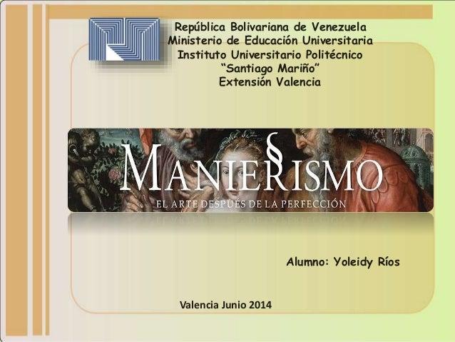 """República Bolivariana de Venezuela Ministerio de Educación Universitaria Instituto Universitario Politécnico """"Santiago Mar..."""