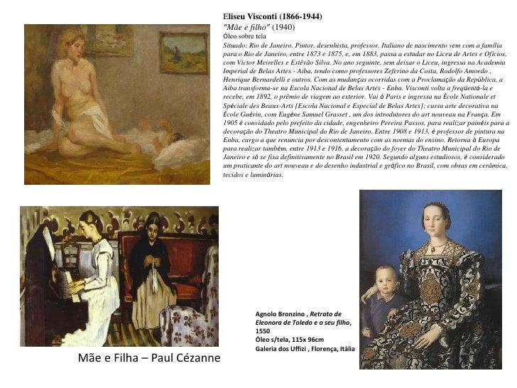 """Eliseu Visconti (1866-1944)""""Mãe e filho"""" (1940) Óleo sobre tela <br />Situado: Rio de Janeiro. Pintor, desenhista, profess..."""