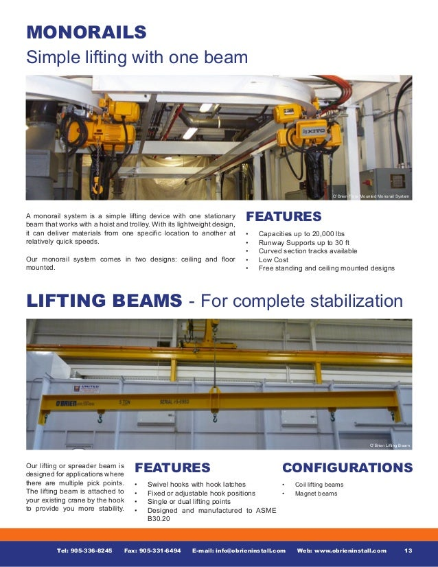 Overhead Cranes, Jib Cranes, Commercial Doors & Loading Dock