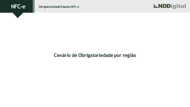 ObrigatoriedadeEstadosNFC-e Cenário de Obrigatoriedade por região
