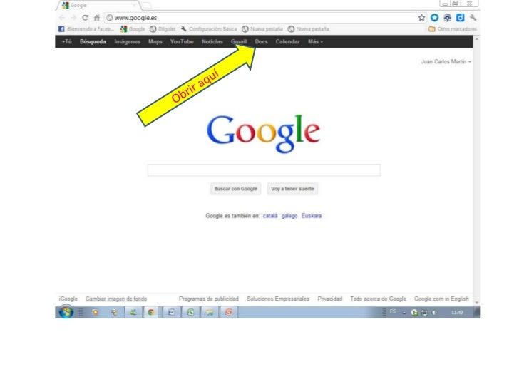 Obrir documents google docs