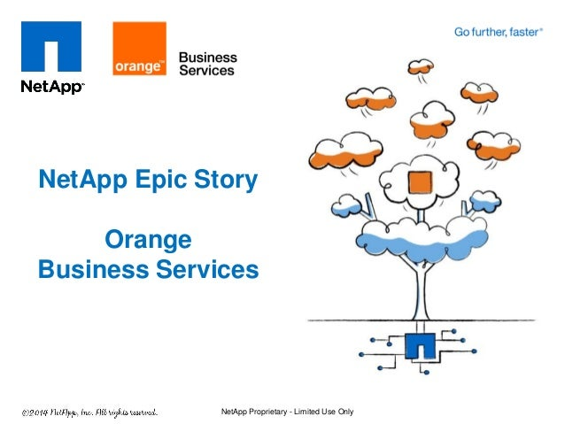 NetApp Epic Story Orange Business Services NetApp Proprietary - Limited Use Only