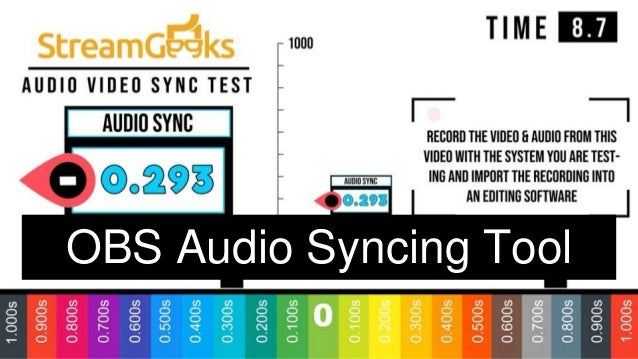 OBS Audio Syncing Tool