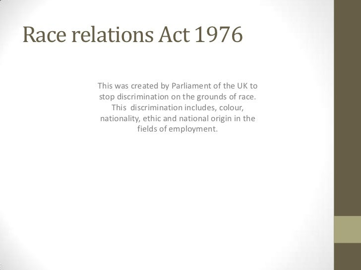 Race relations act 1976
