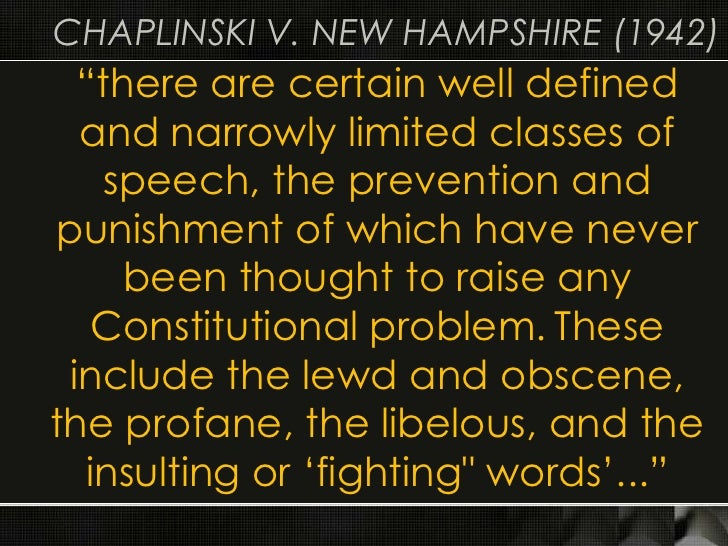 the issue of defining obscenity according to the first amendment But the debate over what constitutes obscenity and how it should be regulated  has long troubled americans  john: the first amendment protects the right to  all expression, whether or not you happen to  you don't really have to define it.