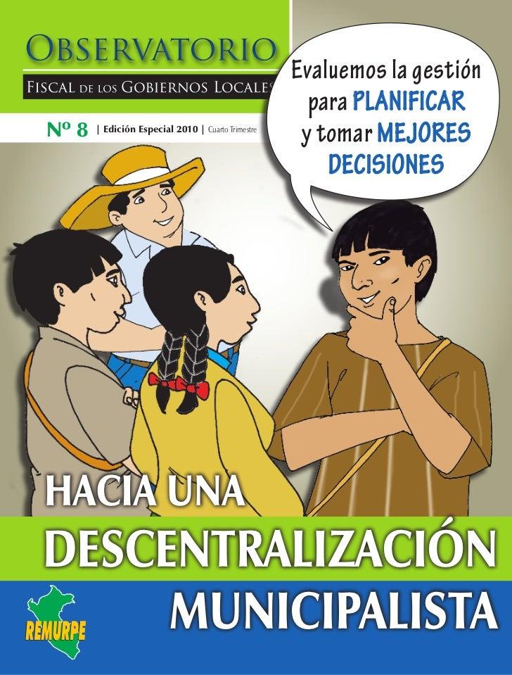 Evaluemos la gestión                                                      para planificarNº 8   | Edición Especial 2010 | ...